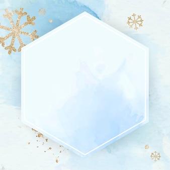Sfondo cornice fiocco di neve