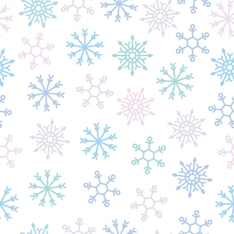 Snow-flake seamless pattern for decorative