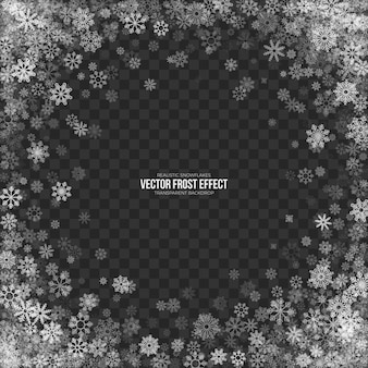 Snow frost effect transparent background