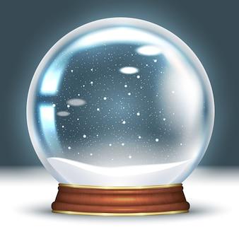 Snow globe empty