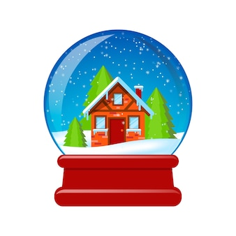 Snow globe illustration