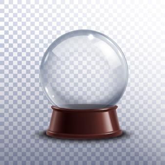 Globo di neve trasparente