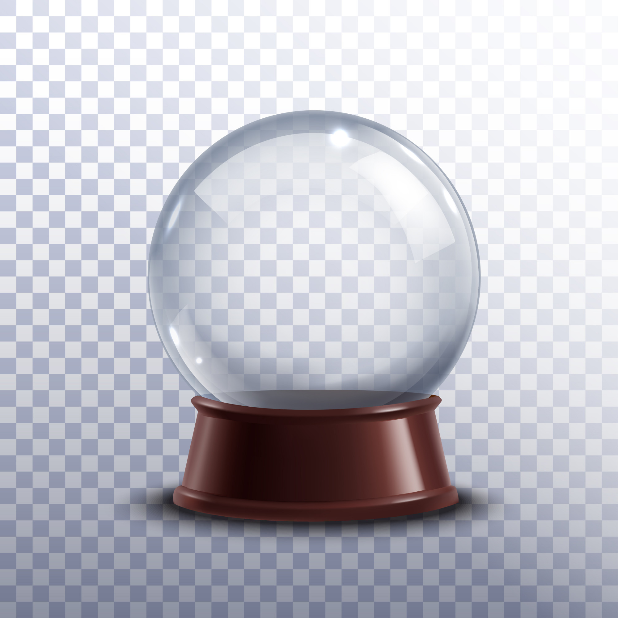Snow globe transparent