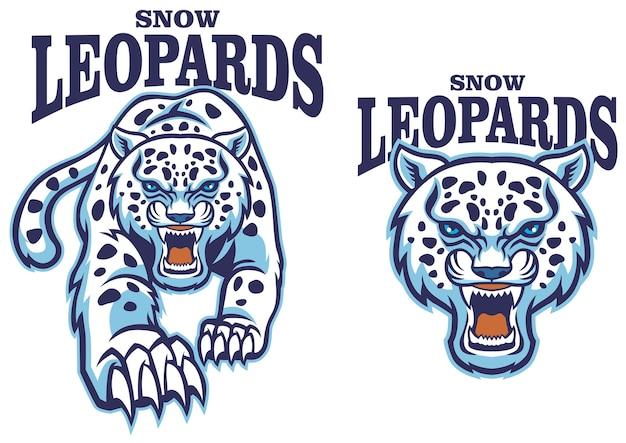 Snow leopard mascot set
