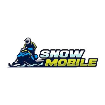 Снежный мобильный логотип шаблон