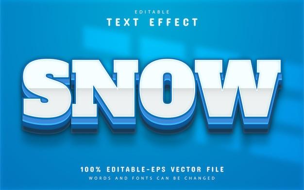 Snow text effect editable