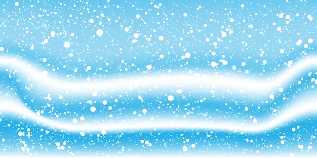 Snow winter background. white snowflakes. winter falling snow. vector illustration. snowfall background.