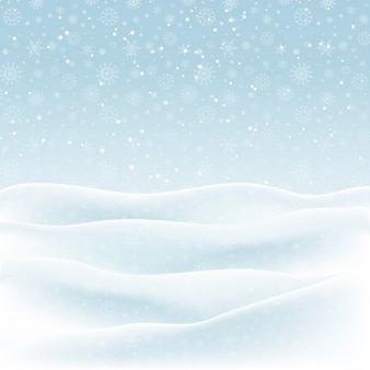 Snow, winter background