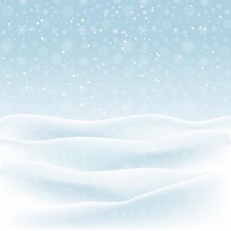 Natale sfondo di un paesaggio innevato