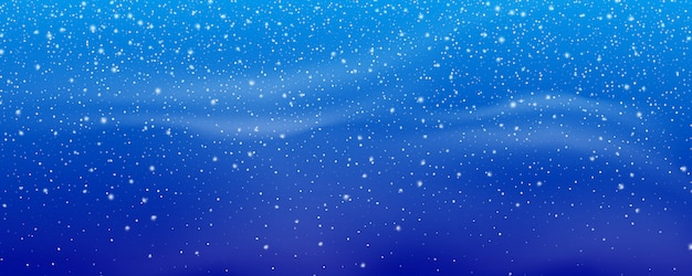 Snow. winter christmas snowstorm blizzard background. snowfall, snowflakes in different shapes