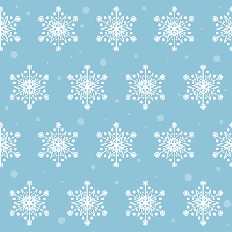 Snow. winter snowflake seamless pattern background.