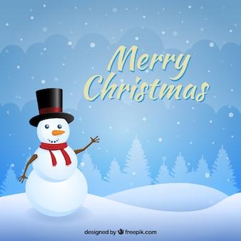 Снежный фон рождество с snowan