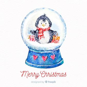 Snowball globe background