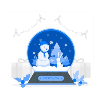 Snowball globeconcept illustration