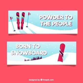 Сноуборд и лыжные баннеры