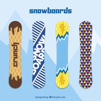 Collezione di snowboard