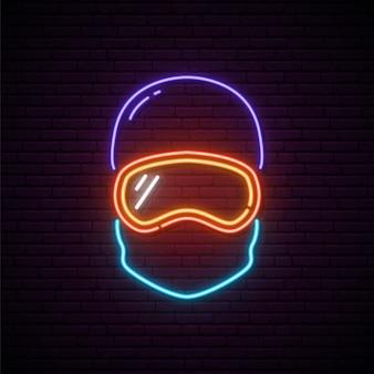 Snowboarder neon sign.