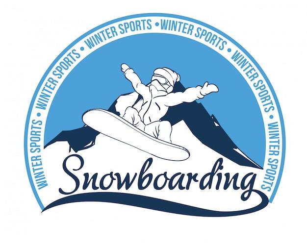 Snowboarding design, vector illustration.