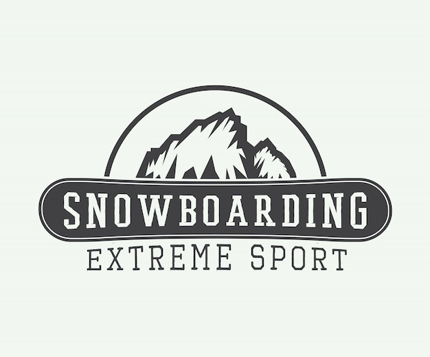 Snowboarding logo, badge, emblem