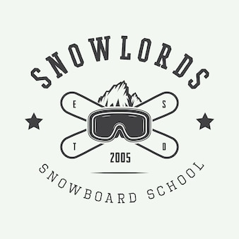 Snowboarding logo, badge