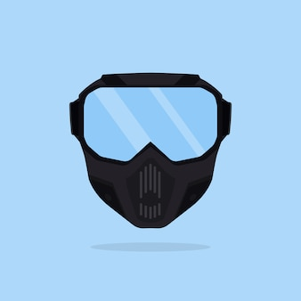 Snowboarding mask.