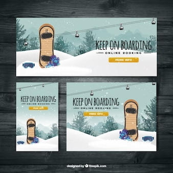 Сноубординг лыжные баннеры