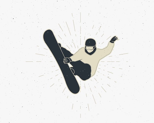 Snowboarding sticker vintage mountain explorer label outdoor adventure logo design.