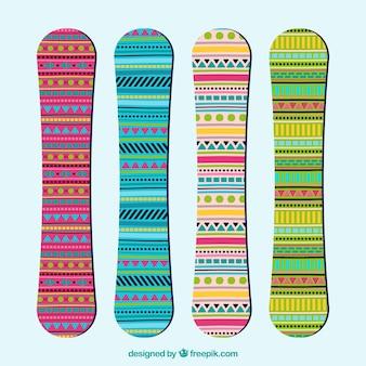 エスニックスタイルでスノーボード