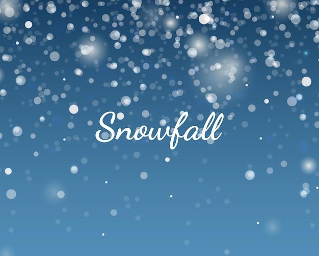 クリスマスと新年の降雪2021リアルなイラスト。