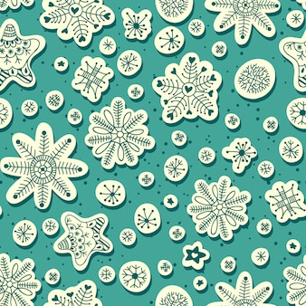 Snowfall seamless pattern