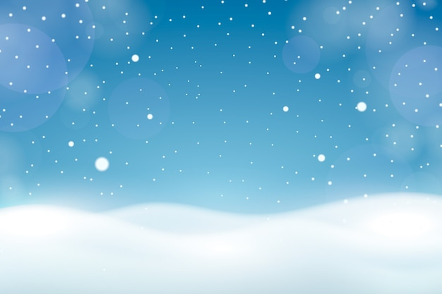 Snowfall with bokeh wallpaper