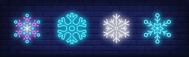 Snowfalls sign set