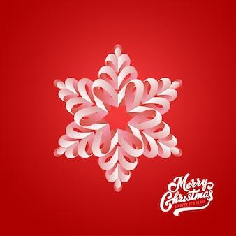 Снежинка и счастливого рождества каллиграфические надписи