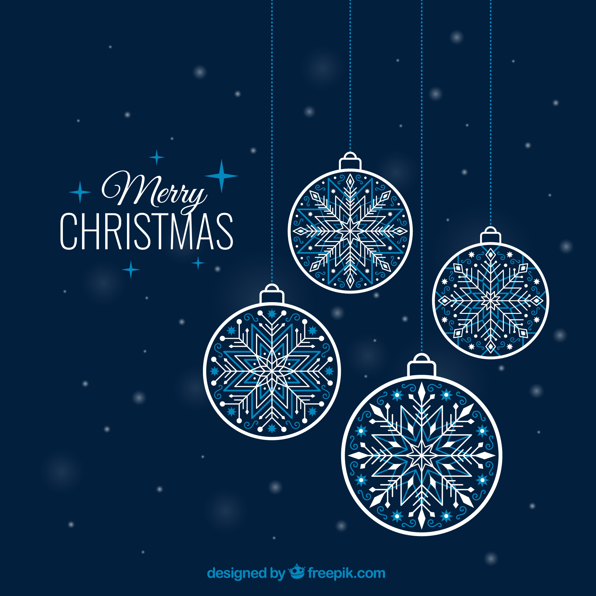 Snowflake baubles background
