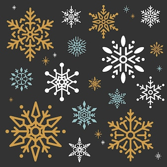 Snowflake christmas design background vector