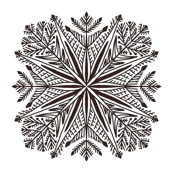 Snowflake christmas illusration