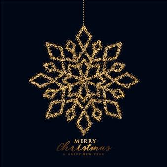 Снежинка новогодняя в черно-золотом цвете
