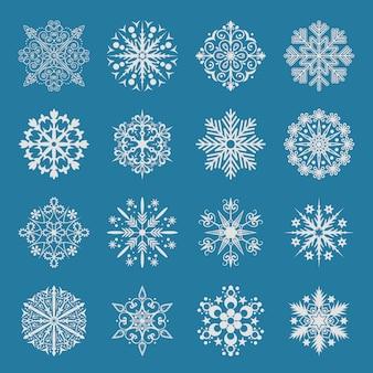 Snowflake icons set.