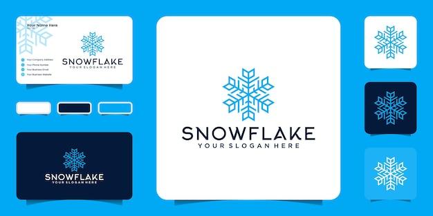 Вдохновение для дизайна логотипа снежинки и вдохновения для визиток