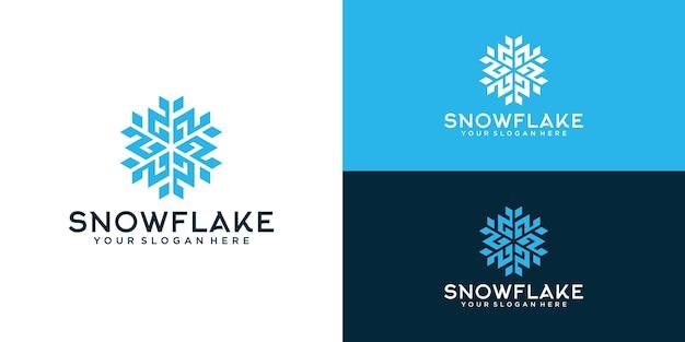 Вдохновение для дизайна логотипа снежинки