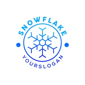 Снежинка логотип на рождество вектор