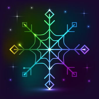 Snowflake neon lights effect