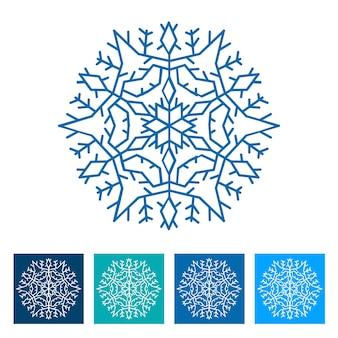 スノーフレーク。新年のアイコン。ベクトルイラスト