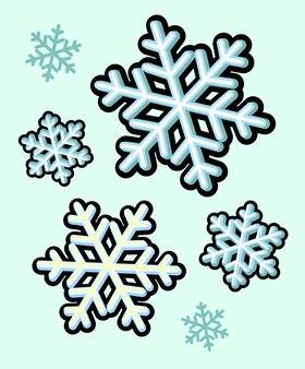 冬の雪の雪のアイコンクリスマスベクトル画像