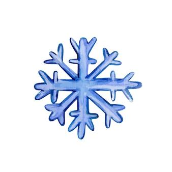 白い背景の上のスノーフレーク手描き水彩ベクトル図