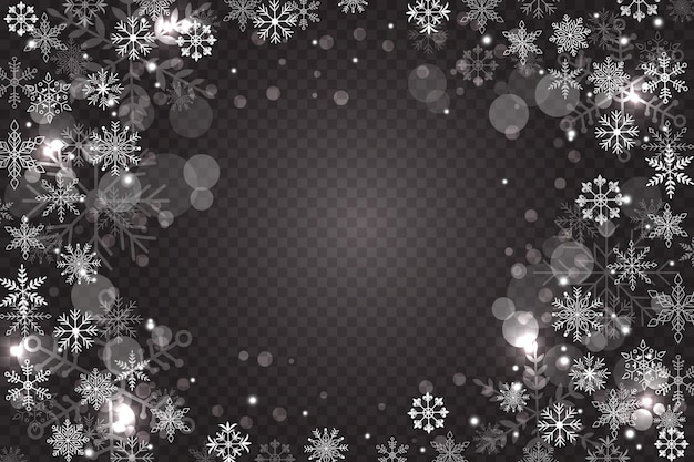 Snowflake overlay background