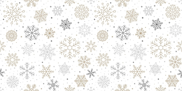 Snowflake pattern, christmas and happy new year background
