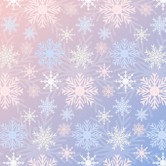 Snowflake seamless pattern gradient rose quartz and serenity colored vintage background