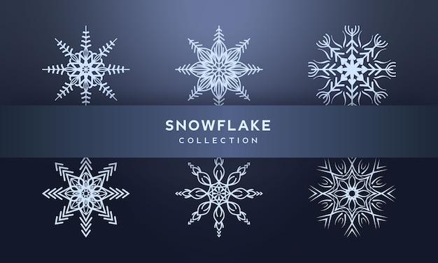 Snowflake set illustration