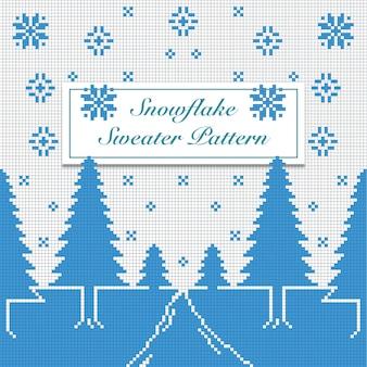 Snowflake sweater pattern